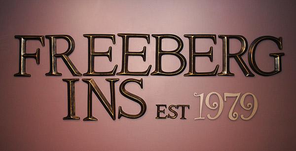 Freeberg Insurance sign